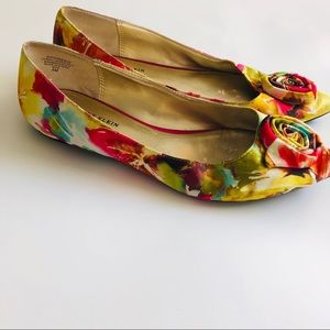 Anne Klein colorful flats size 8